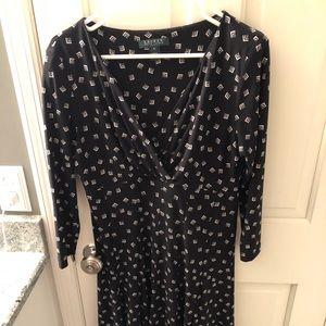 Ralph Lauren black cream print dress